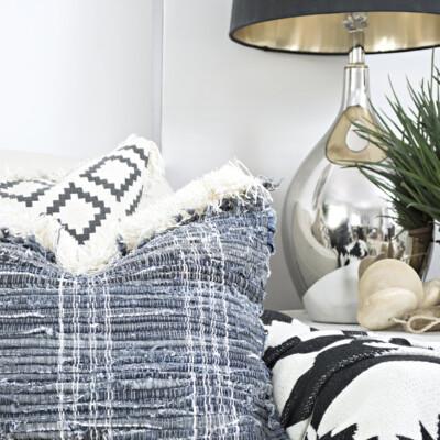 Jeans rag rug DIY pillow covers
