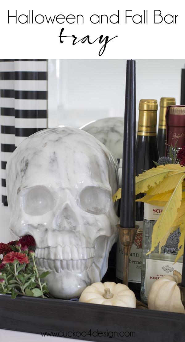 Halloween and fall bar tray