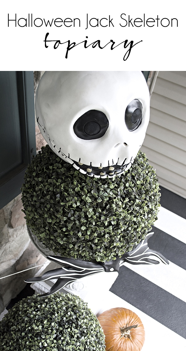 Jack Skeleton topiary