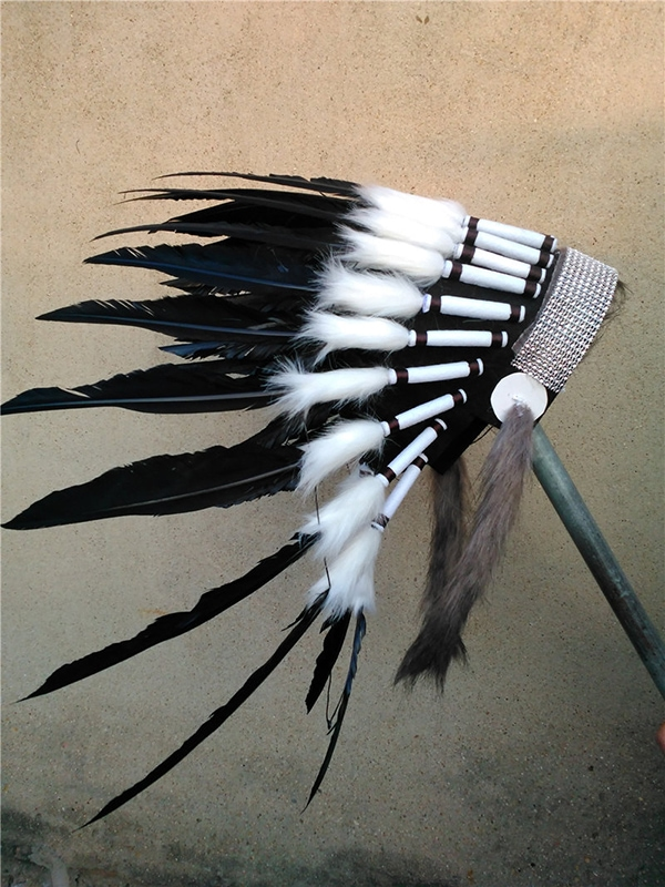 black feather Indian headdress