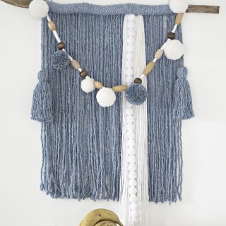 mop head yarn wall hanging