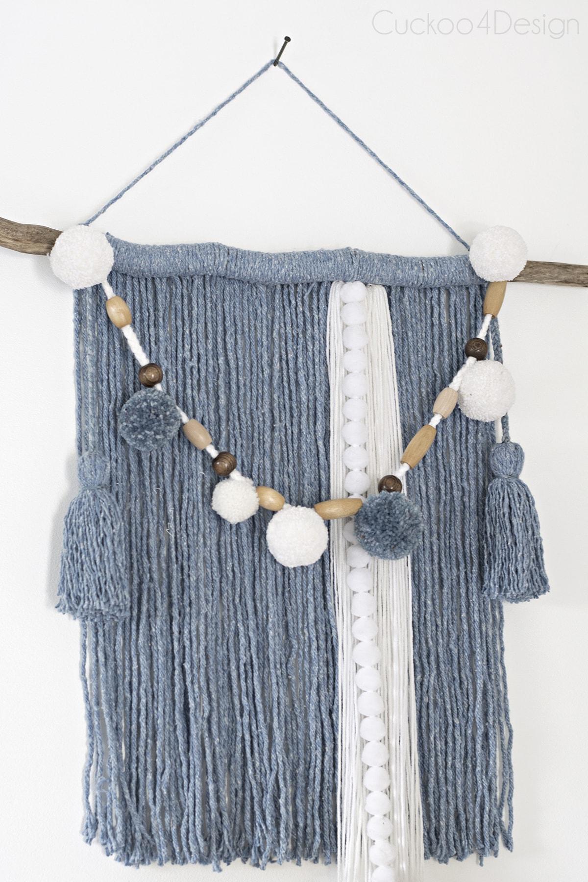 mop head yarn wall hanging