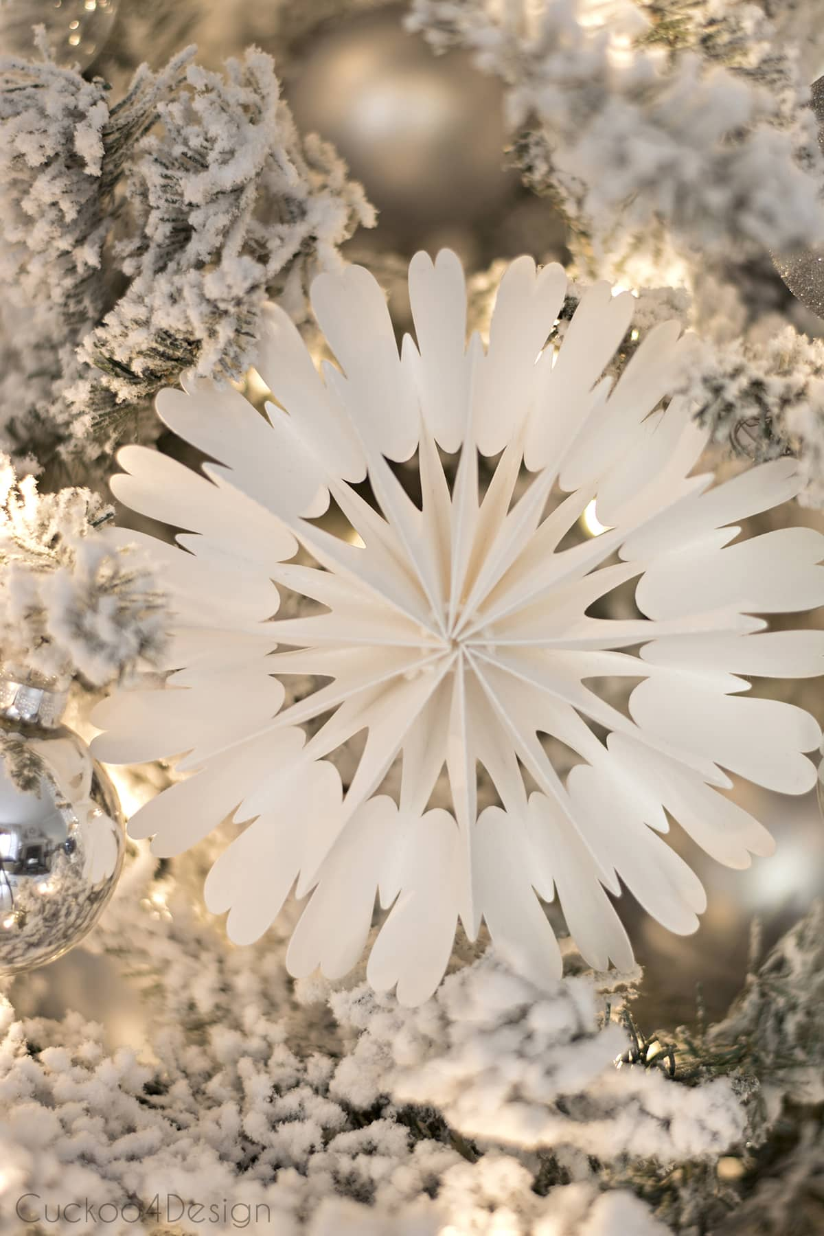 Poster Board Snowflakes for Christmas Tree Decor