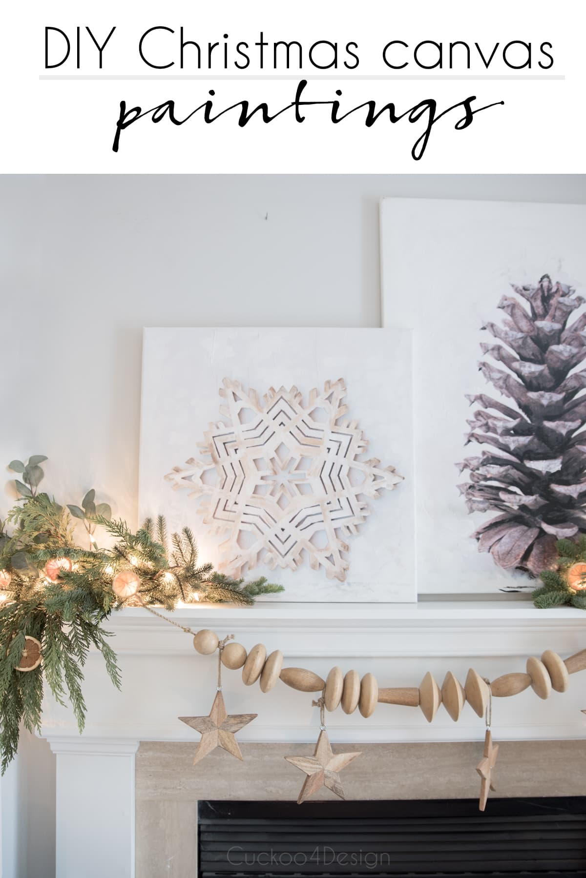 DIY Christmas canvas paintings