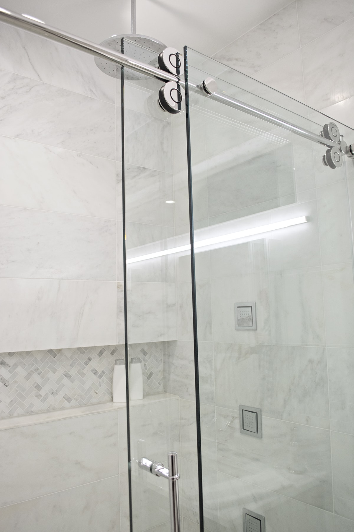 glass barn door shower doors