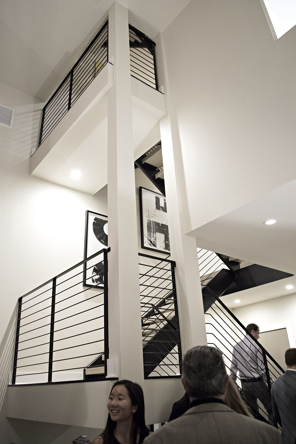 modern black metal staircase