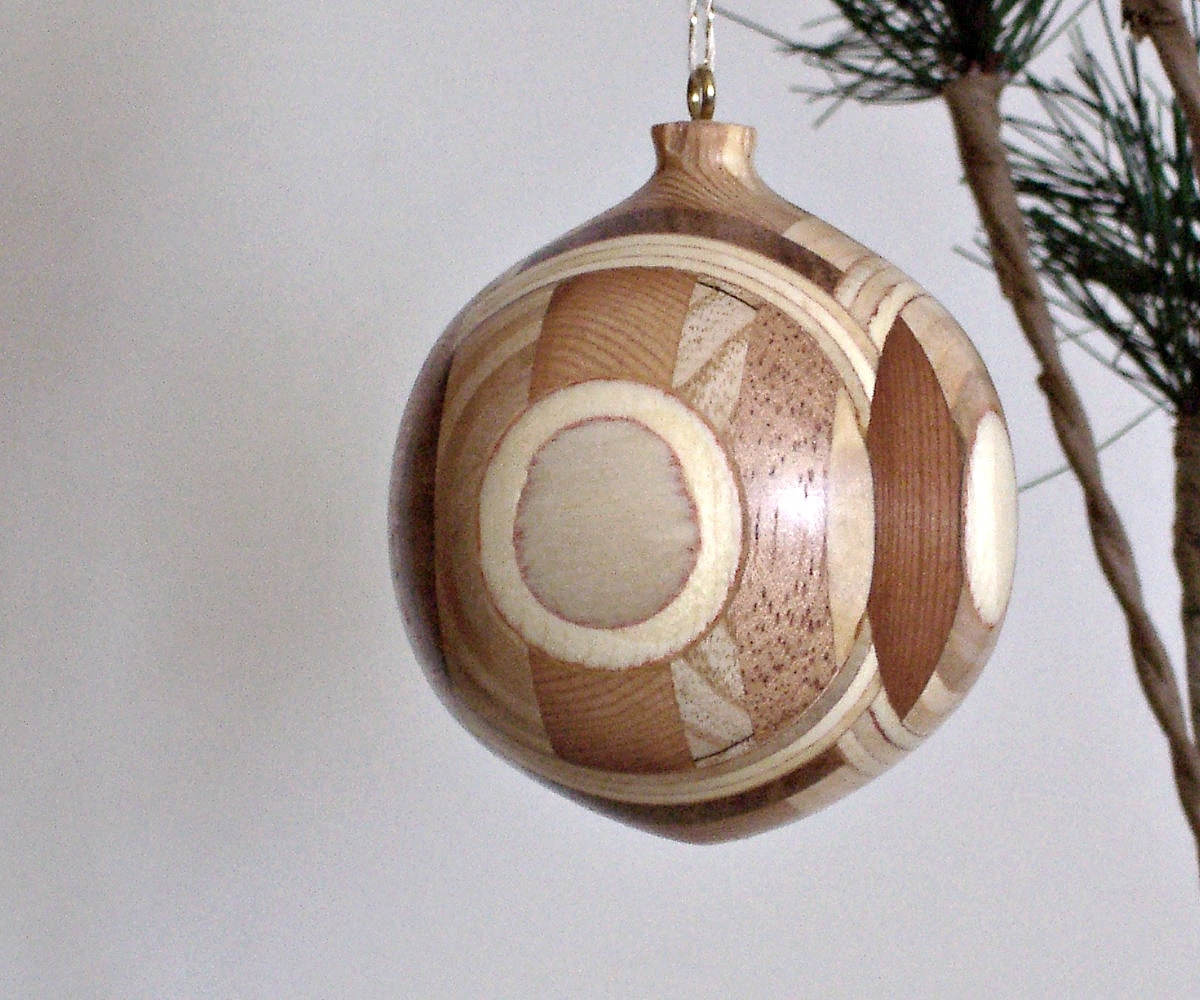 beautiful turned wood ornaments