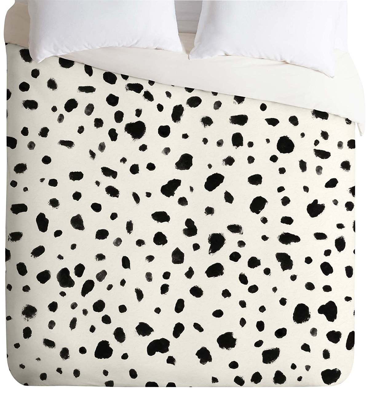 black and white dalmatian dotted duvet cover