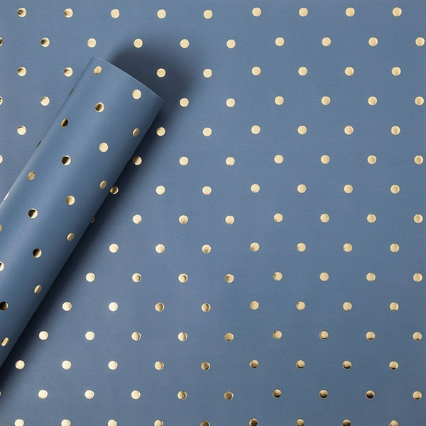 bluewrapping_paper_with_gold_dots