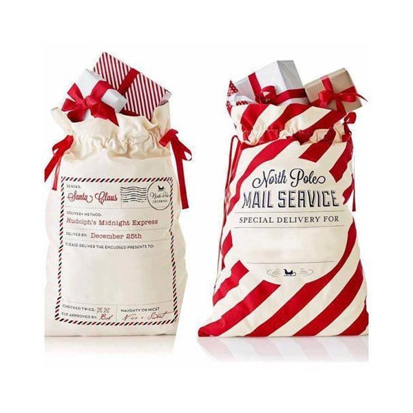 personalized Santa gift sacks