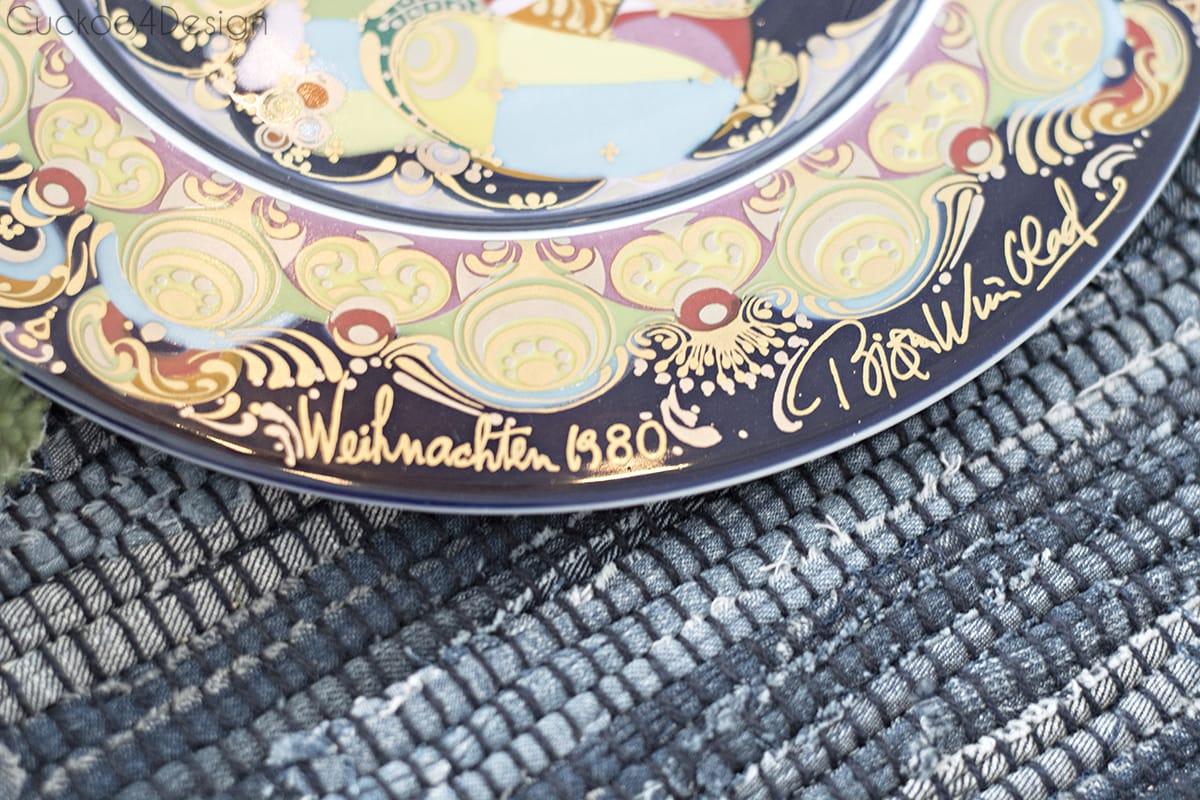 1980 Bjørn Wiinblad Christmas plate - Rosenthal