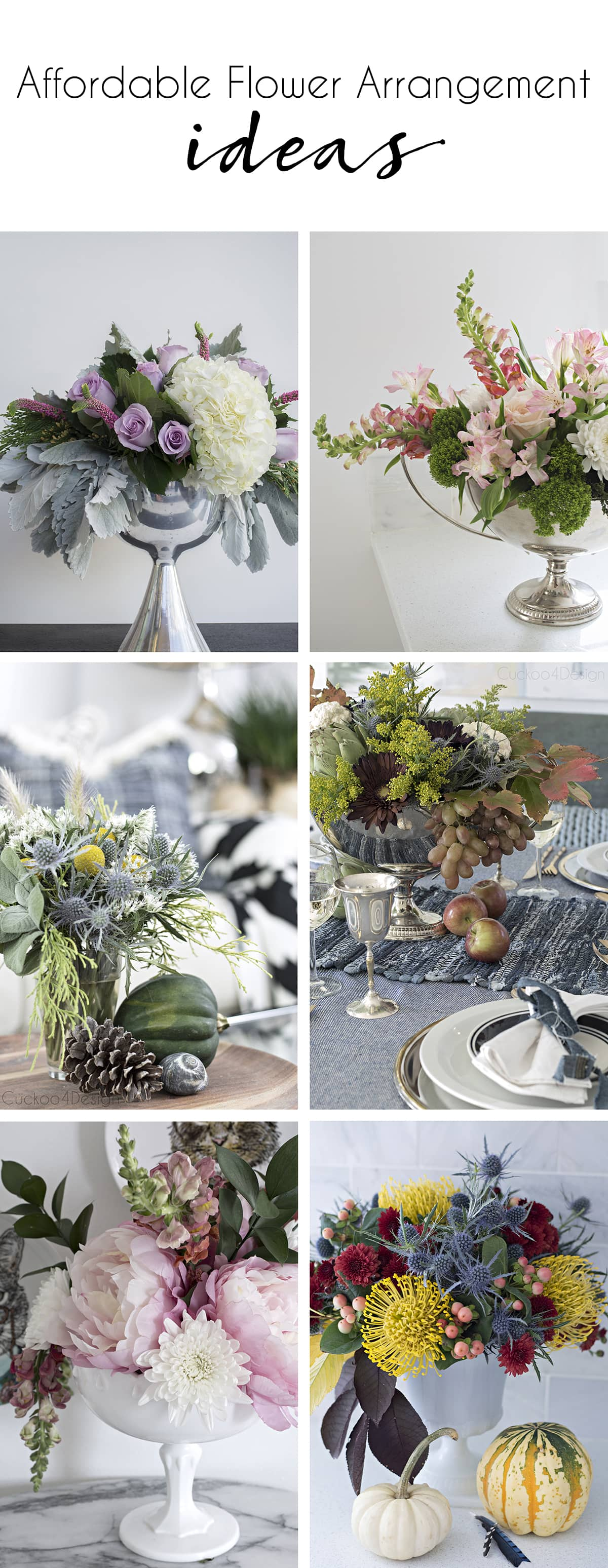affordable flower arrangement ideas