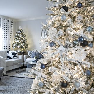 Blue, Black and White Christmas