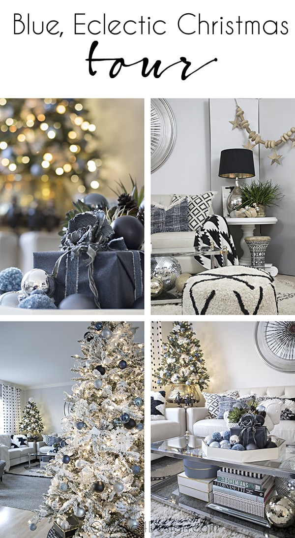 Blue Black And White Christmas Part 1 Cuckoo4design