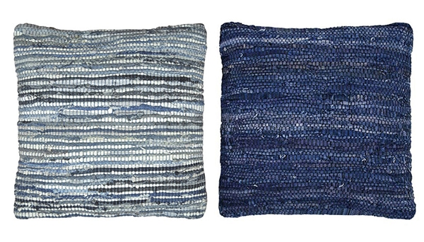JEANS chindi pillows