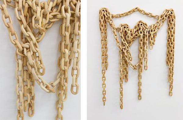 handmade wood chain link