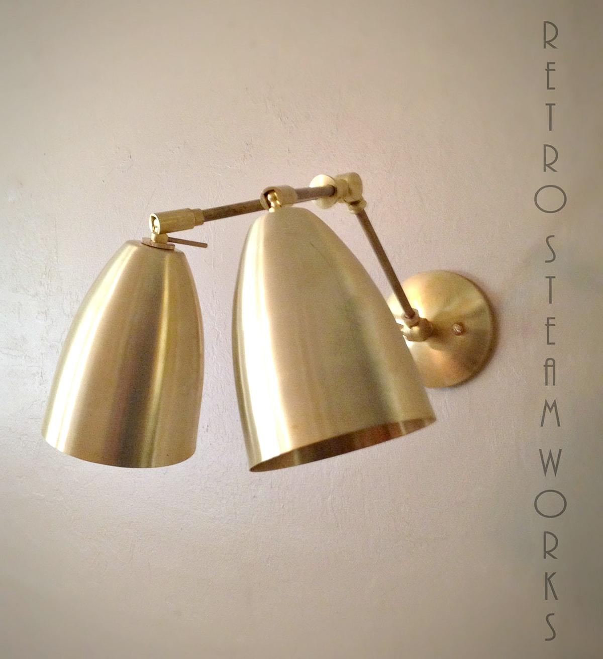 brushed brass vanity light