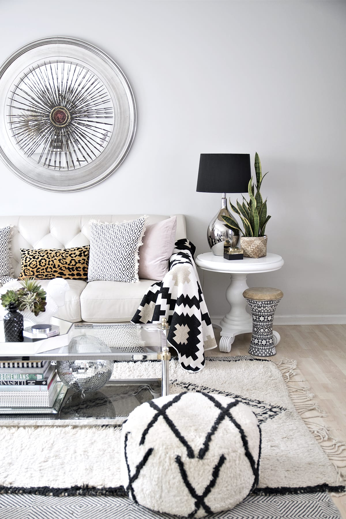 New Fabulous Pillows | my favorite throw pillows | handmade throw pillows | blush throw pillows | patterned throw pillows | eclectic neutral living room | black and white accents in eclectic neutral living room