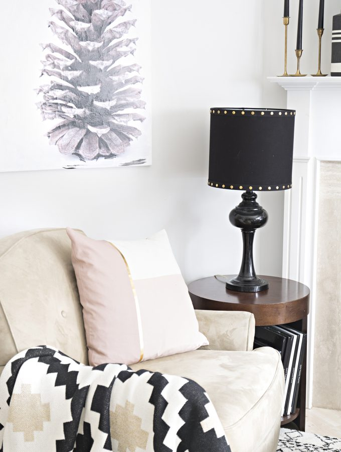 Small Decor Changes: How to add a harp to a lamp