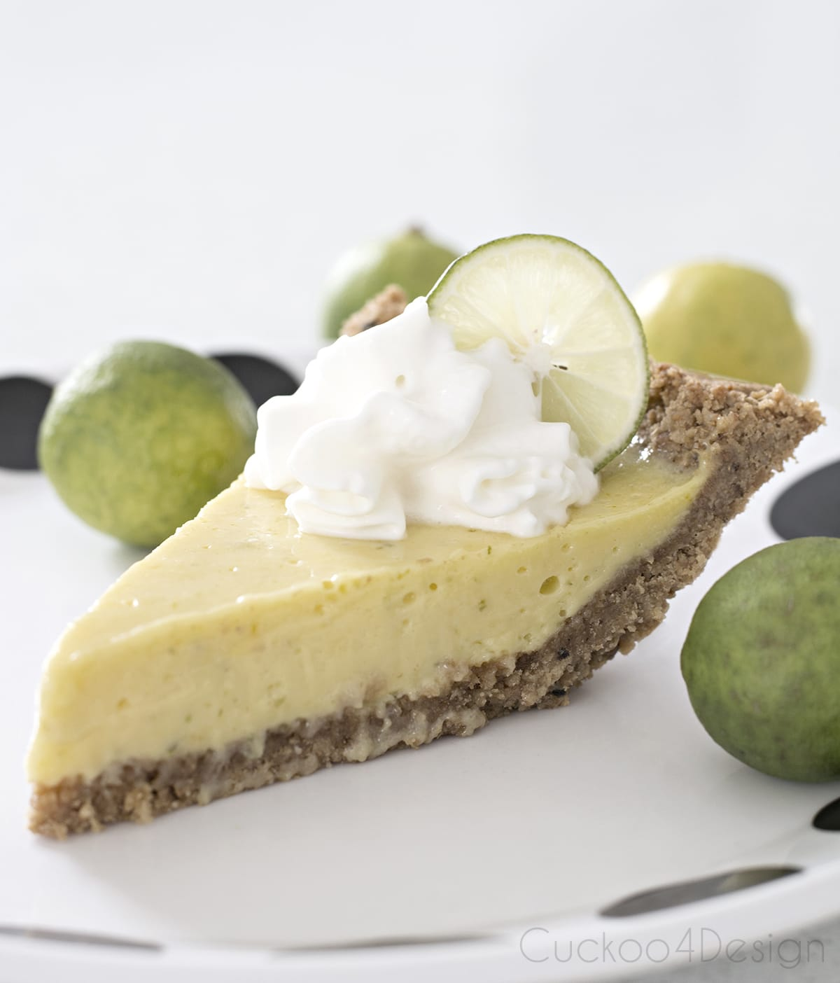 gluten Free Key Lime Pie with fresh key limes