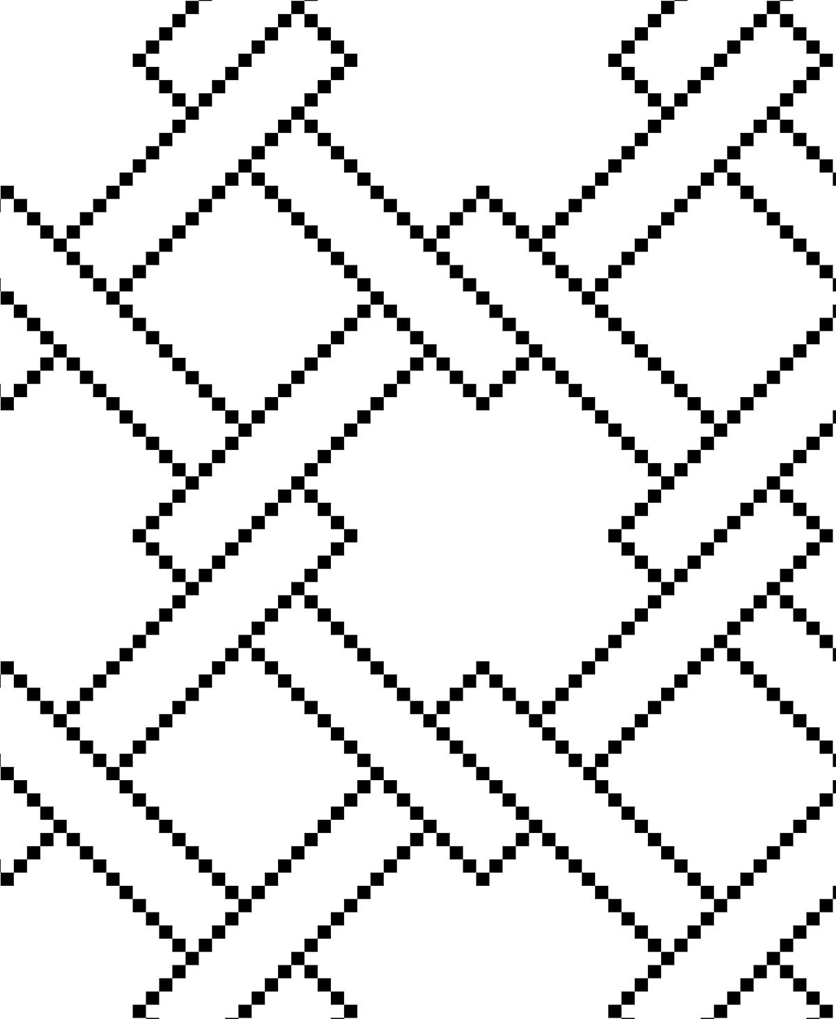 black and white Mosaic stencil