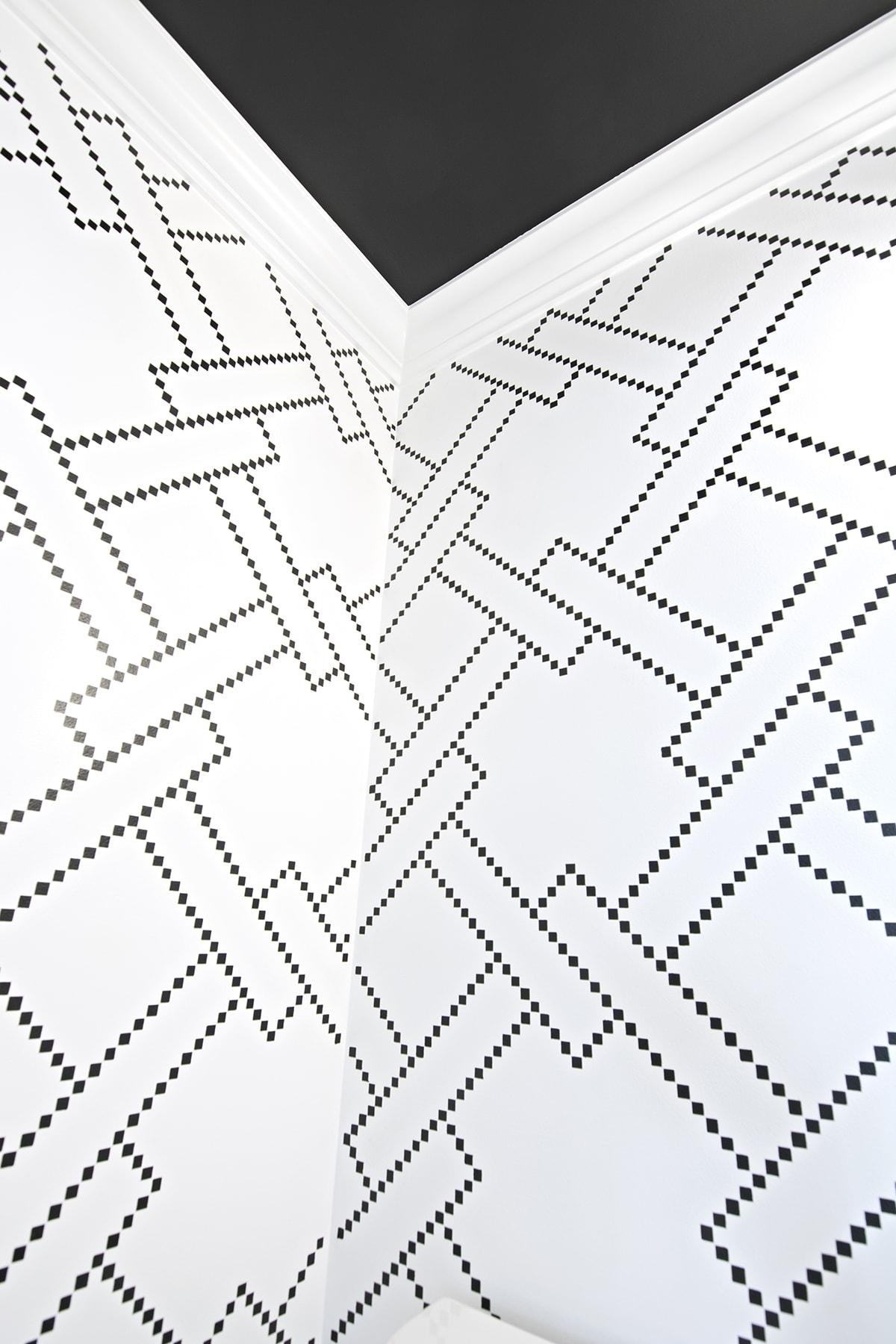 sharpie squares stencil pattern