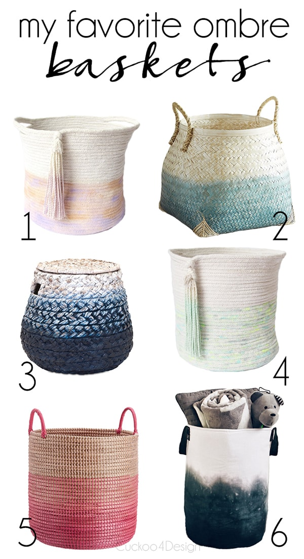 my favorite ombre baskets