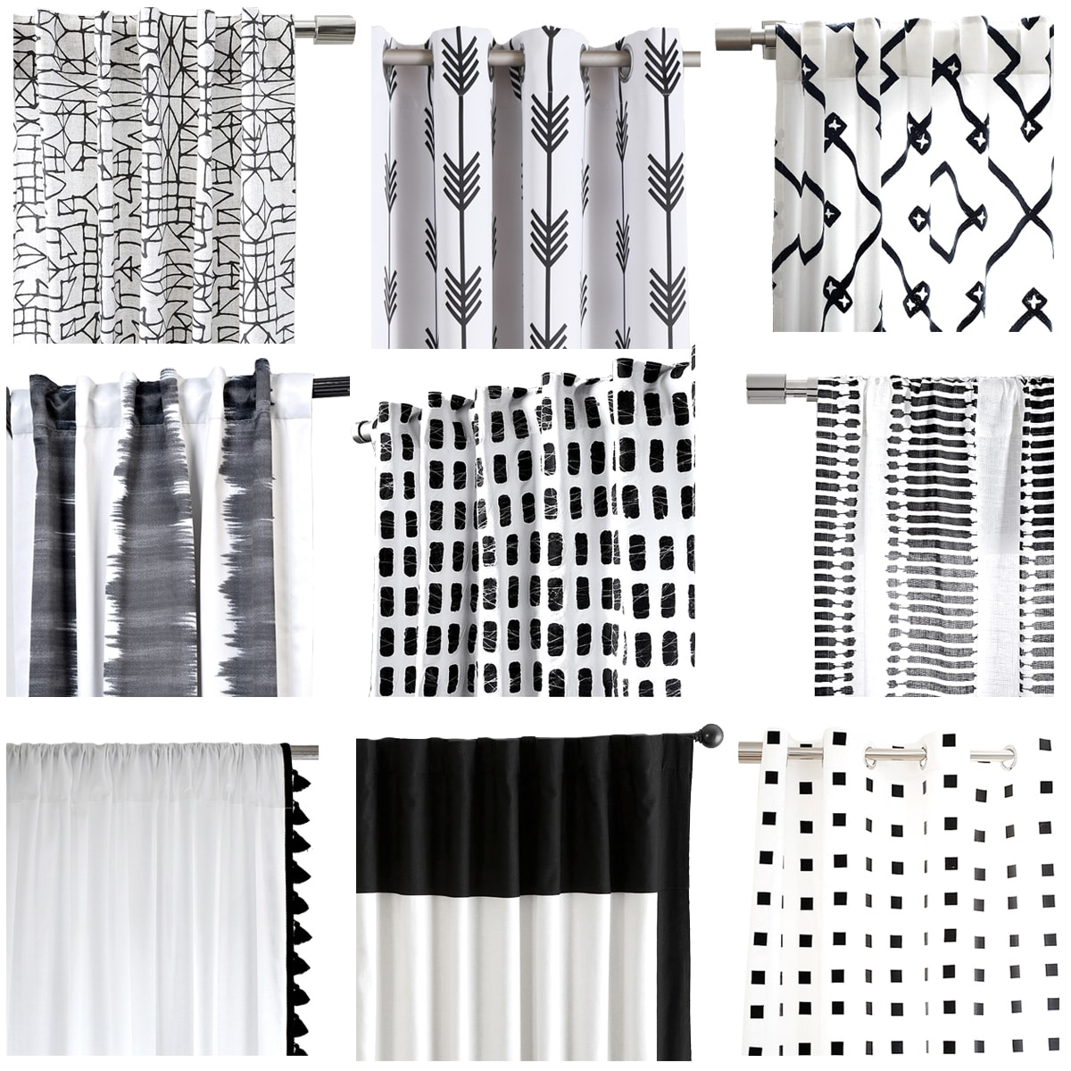 My Favorite Black And White Curtains Cuckoo4design
