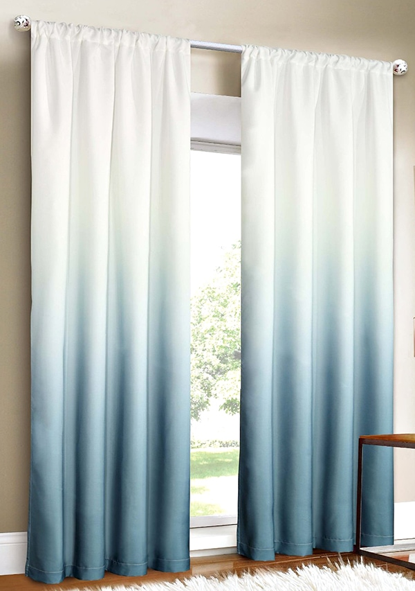 turquoise ombre curtains