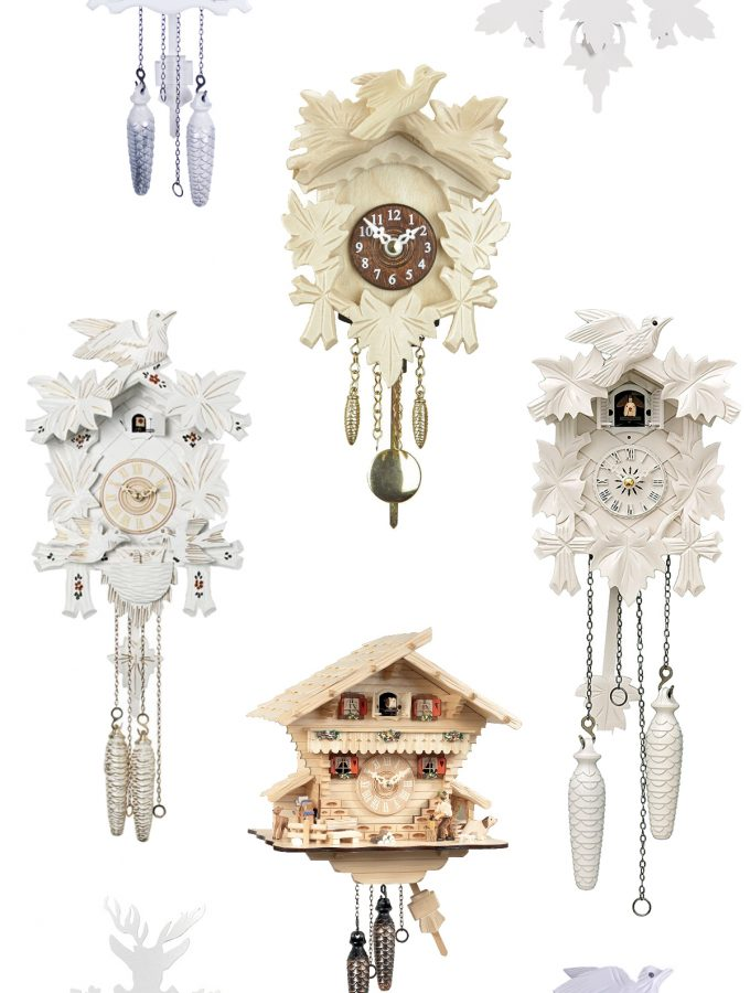 Friday Favorites: light colored cuckoo clocks