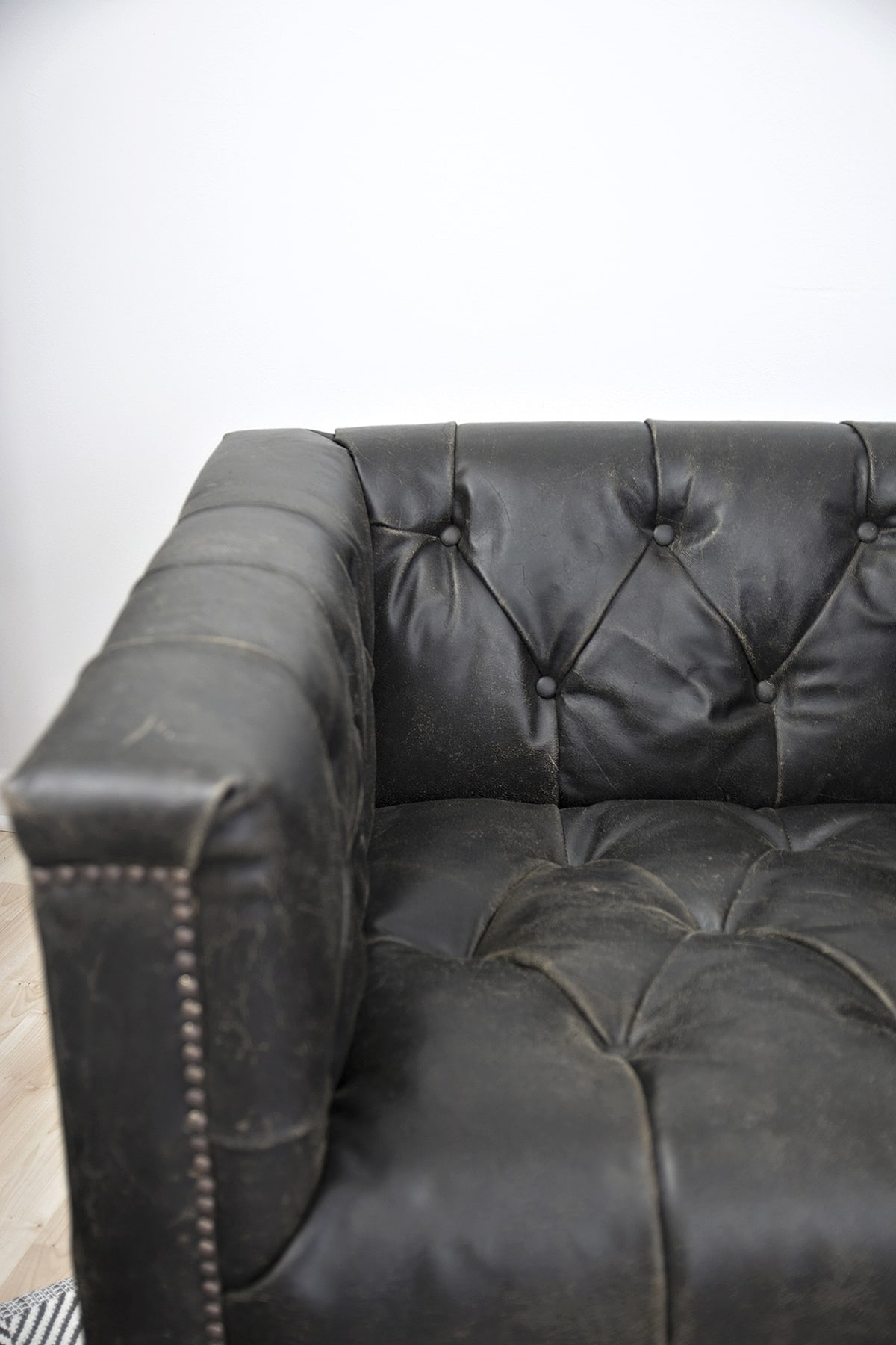 distressed leather furniture to hide cat scratches