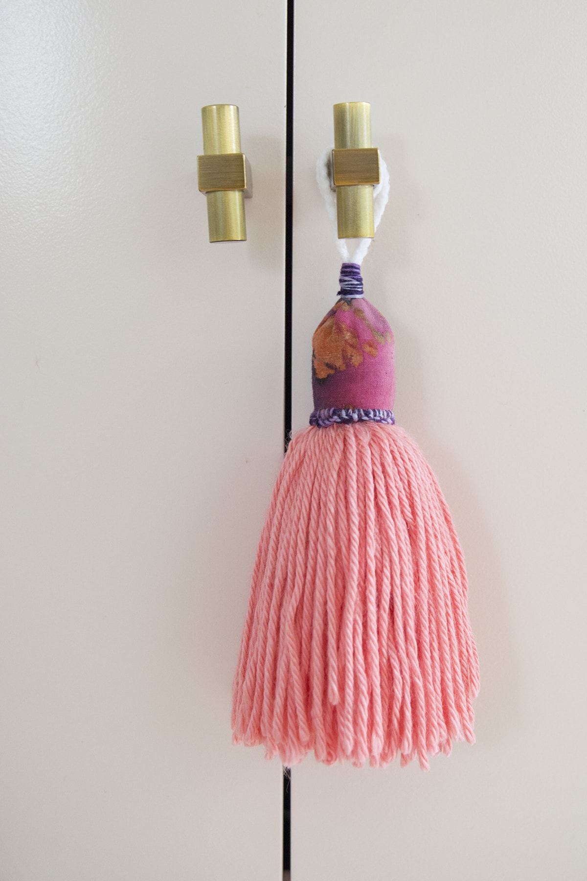 DIY batik fabric and wool tassels