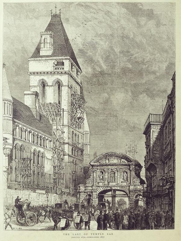 antique London print