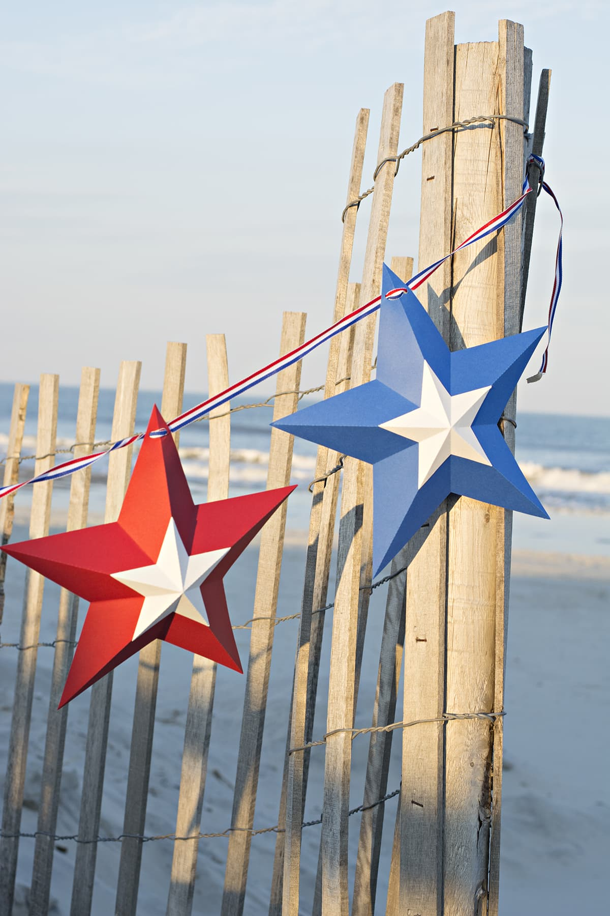 star bunting on the beach