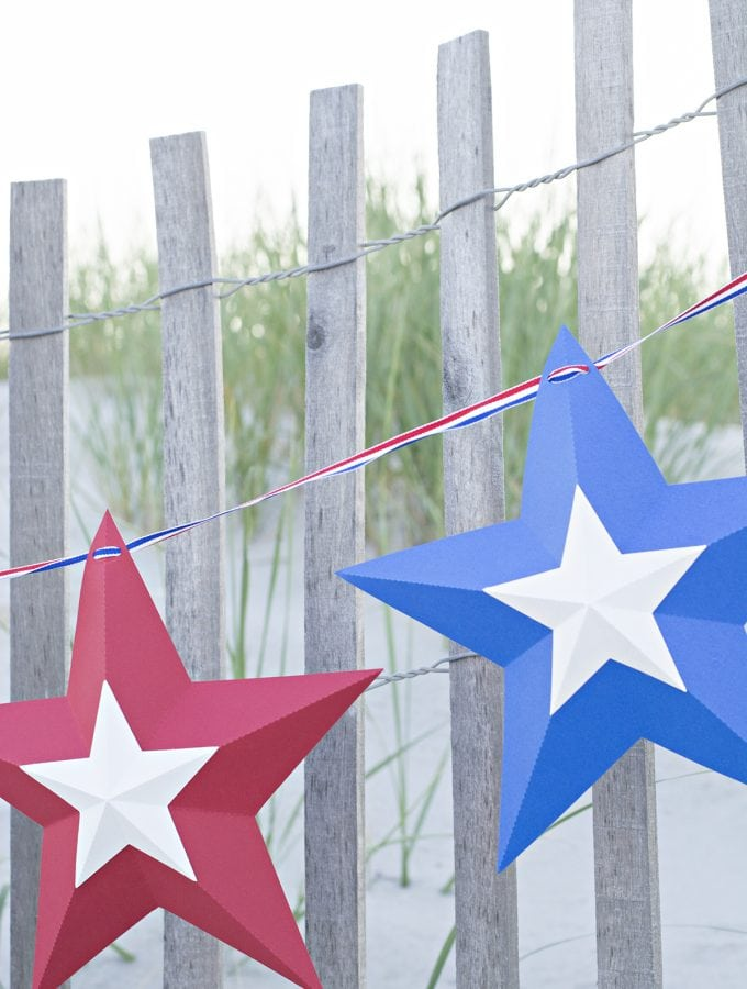 easy 4th of July star banner photobackdrop