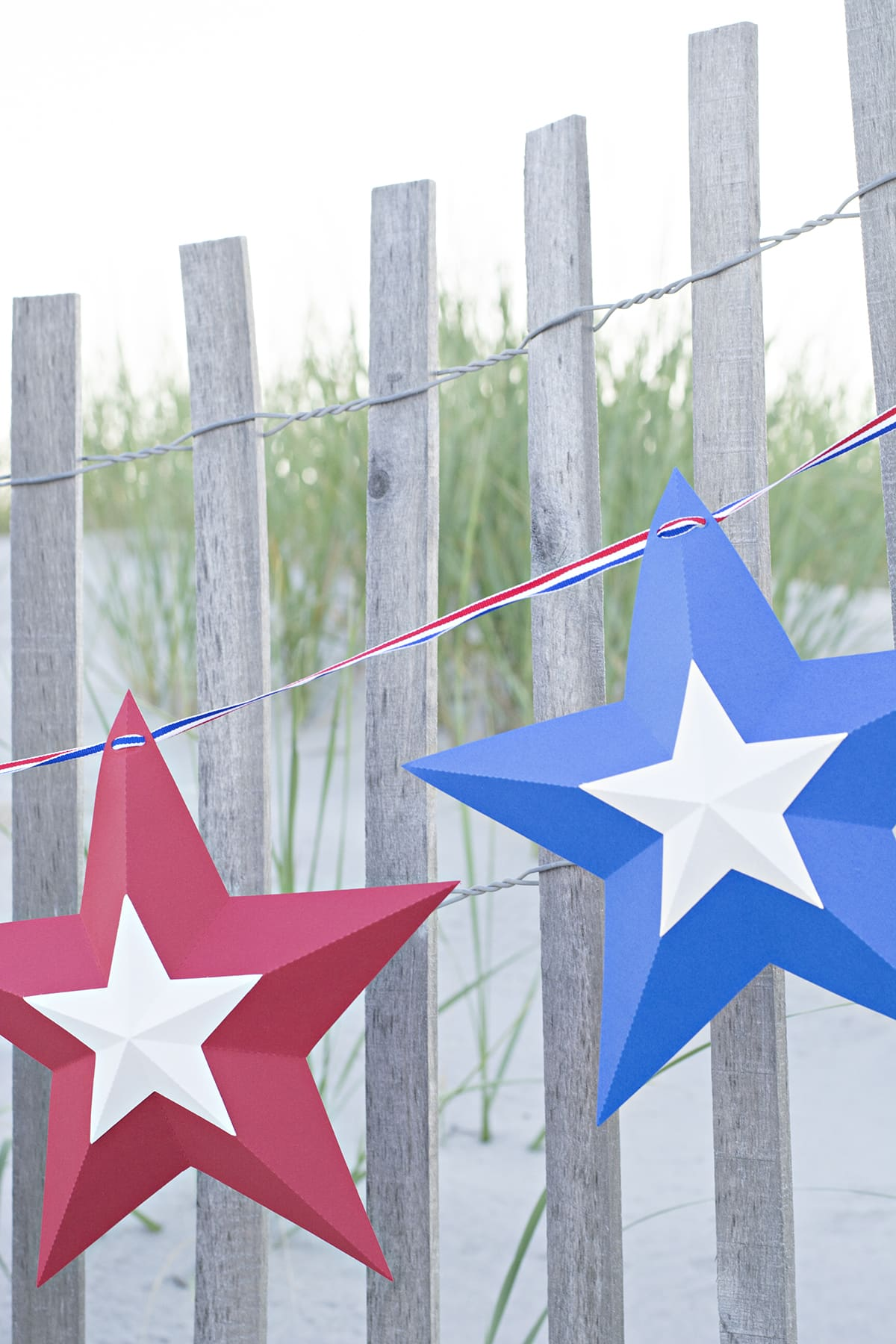 Easy 4th of July Star Bunting