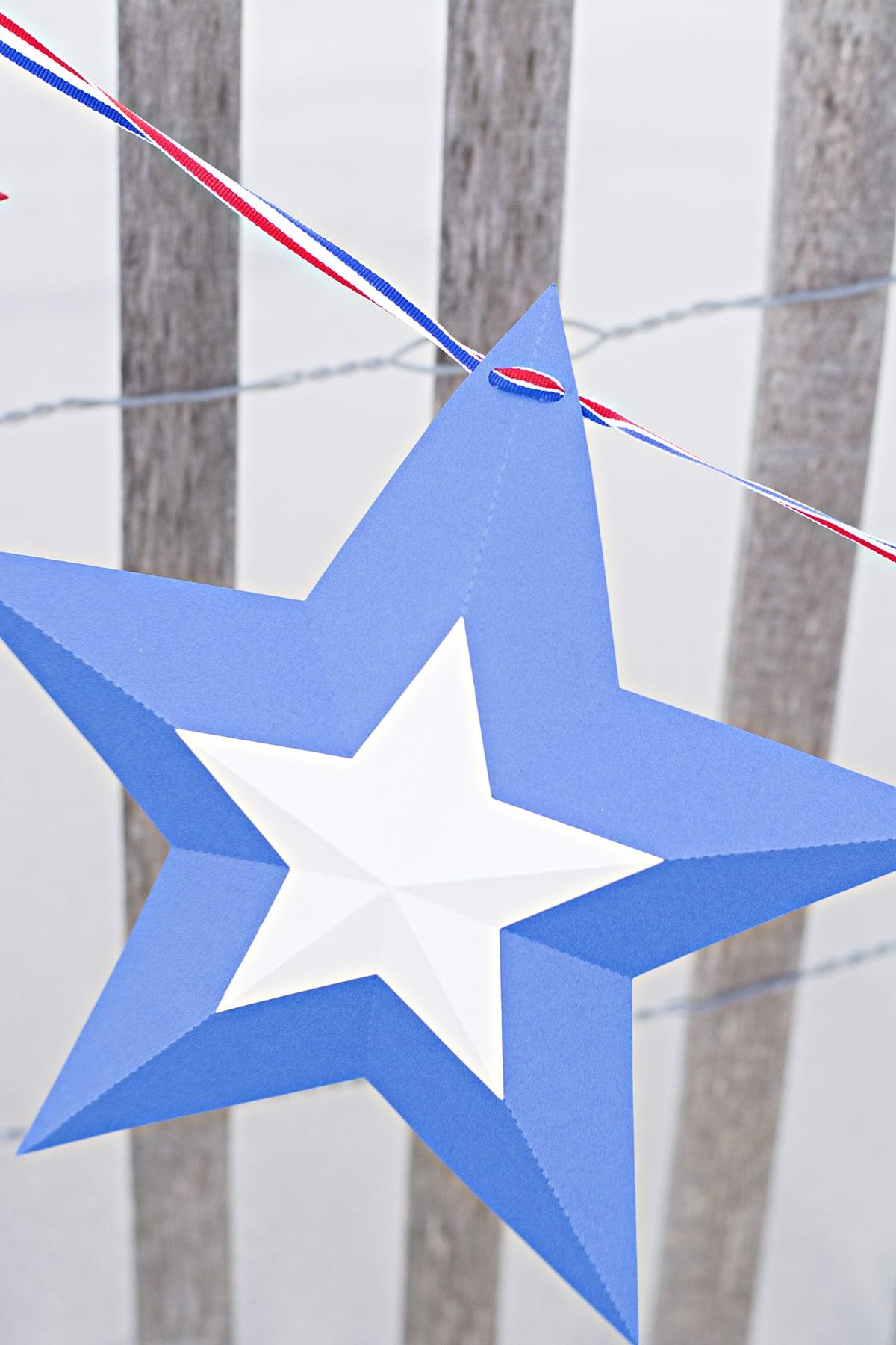 patriotic star bunting