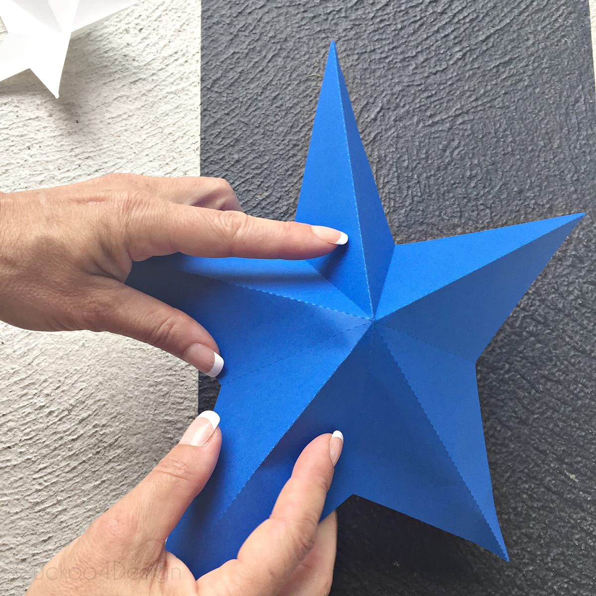 blue foldable stars for patriotic star bunting