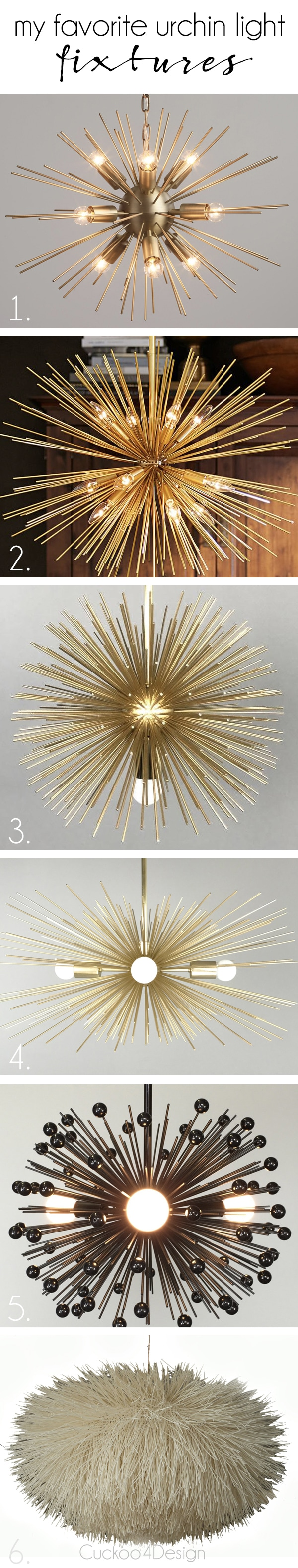 my favorite urchin light fixtures