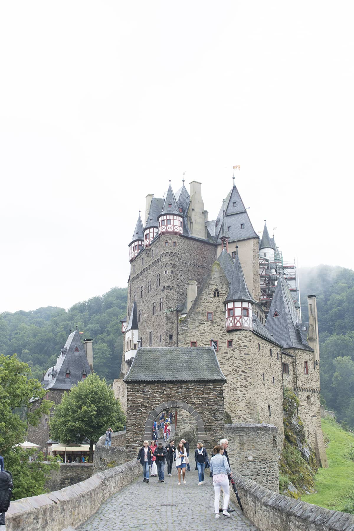 Stunning German castle Burg Eltz or Eltz castle which has been unscathed by wars and is still owned by the same family who started building it 850 years ago.