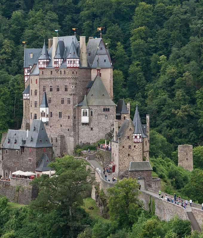 Burg Eltz view from top