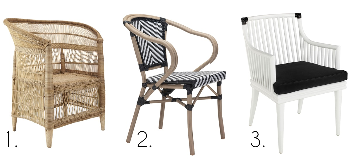 favorite neutral and black and white chairs