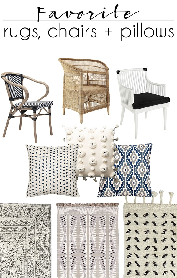 my current favorite neutral chairs pillows and rugs
