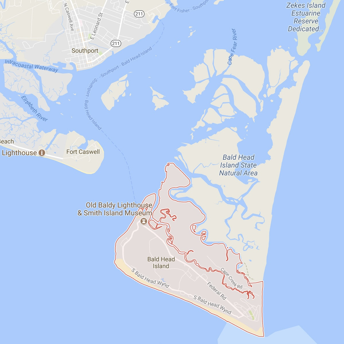 Bald Head Island Map