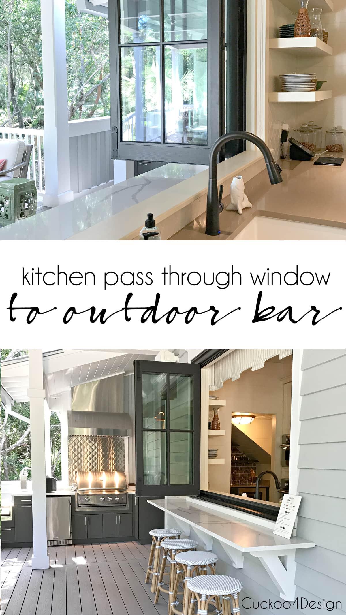 kitchen passthrough window to outdoor bar