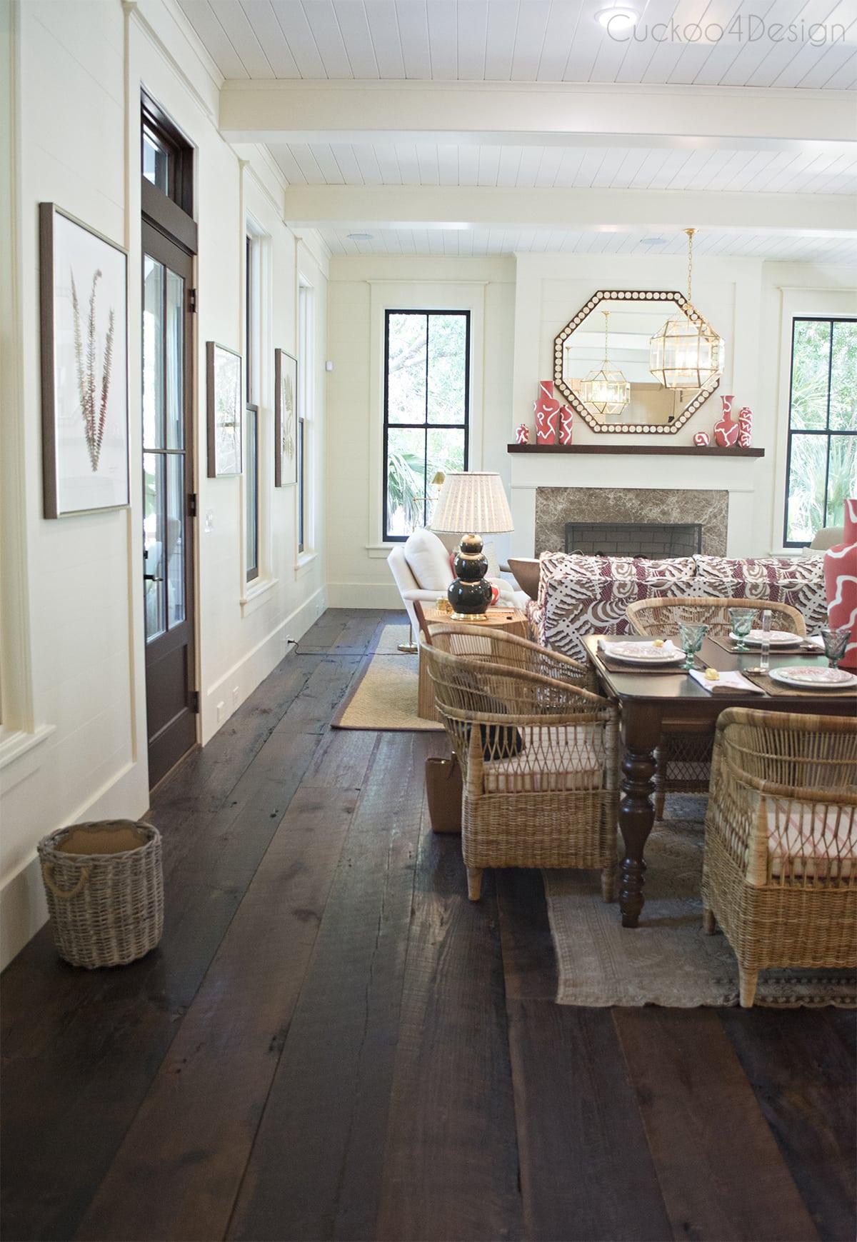 full length view of living room
