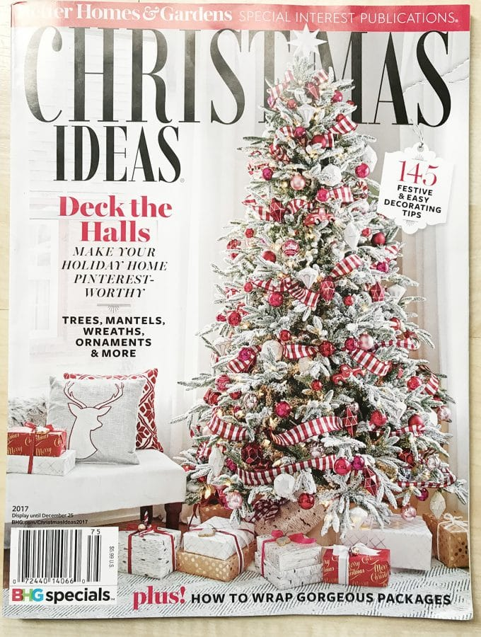 Better Homes and Gardens Christmas Ideas Magazine 2017