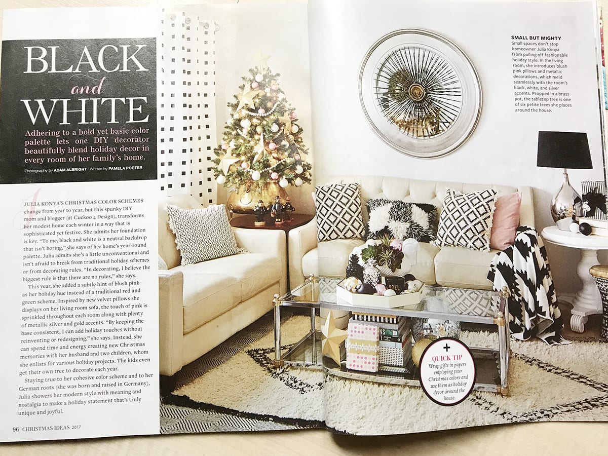 Better Homes and Gardens Christmas Ideas Magazine 2017 Cuckoo4Design