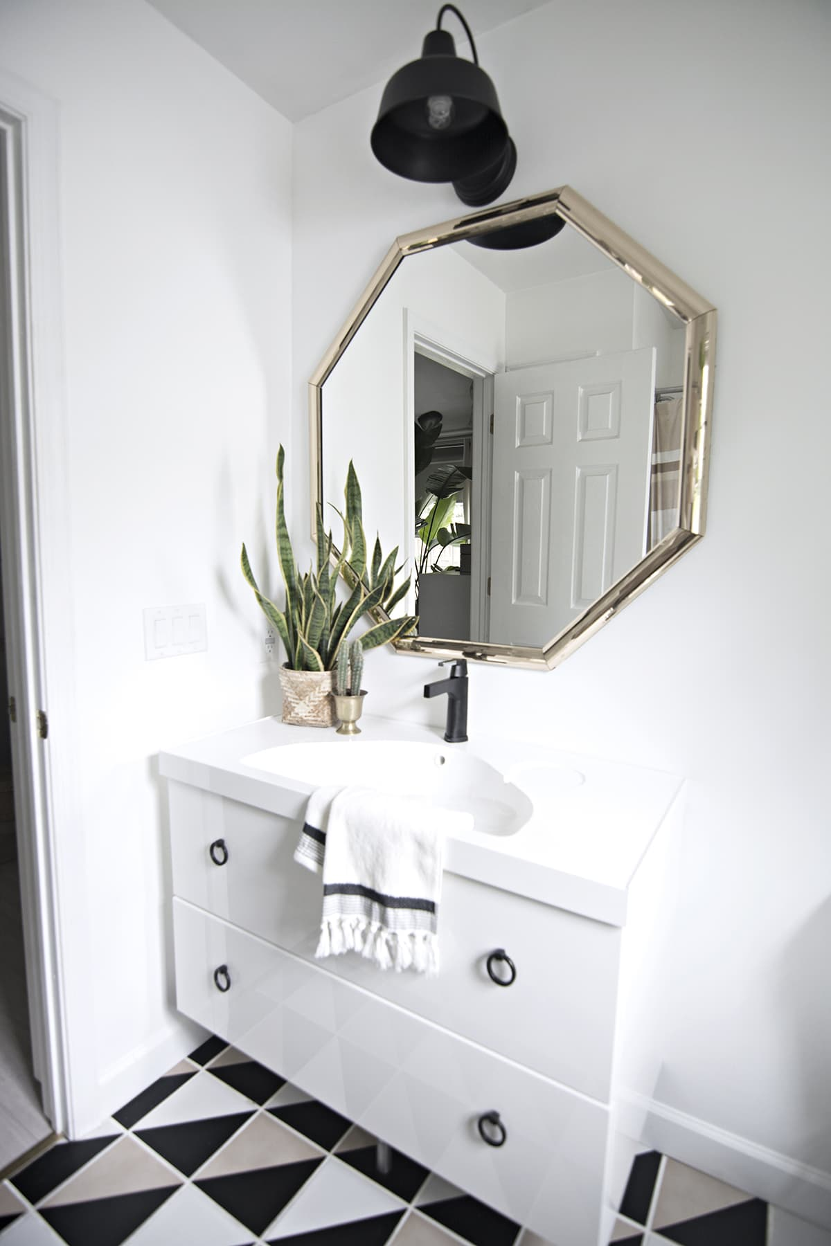 Installing A Delta Touch Faucet On An Ikea Floating Vanity Cuckoo4design