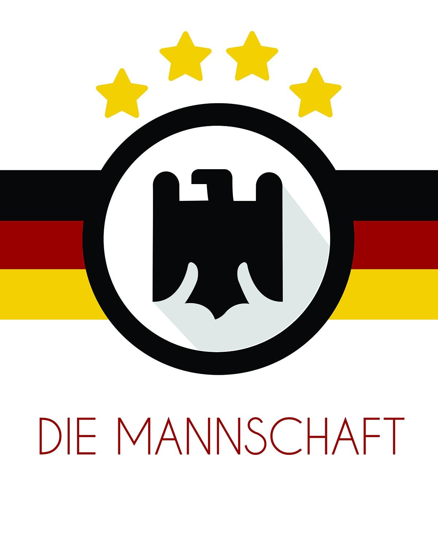 Die Mannschadt retro logo poster Soccer World Cup 2014